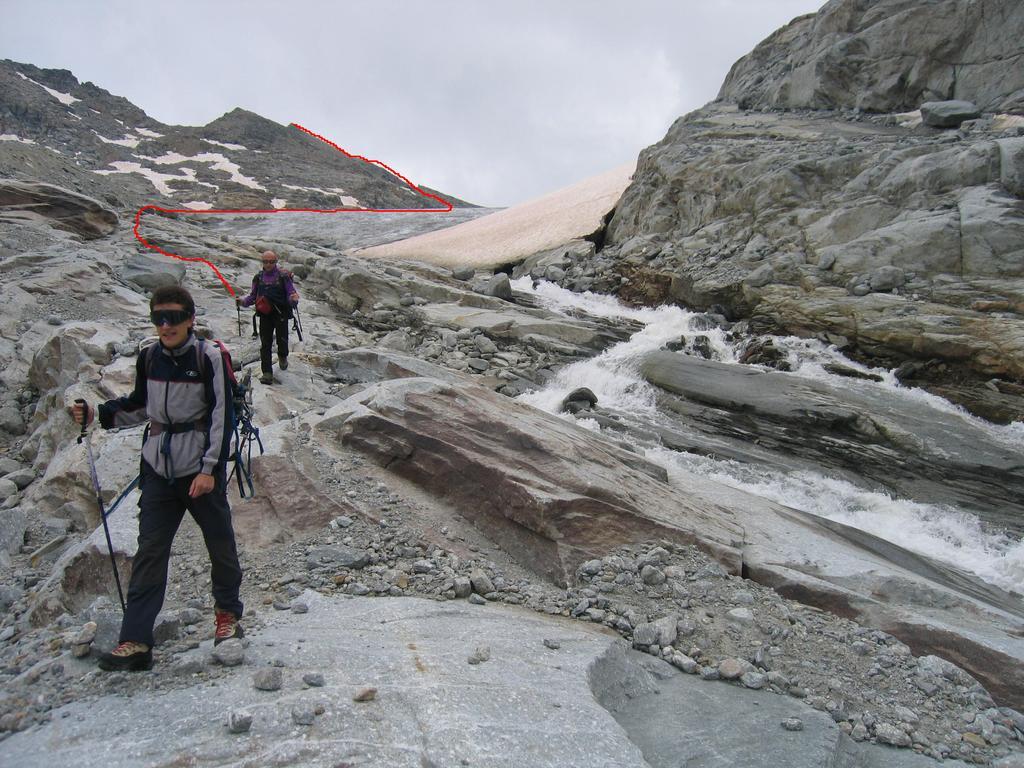 uscita dal ghiacciaio