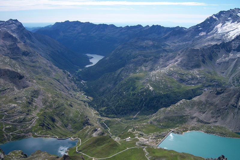I laghi di Ceresole, Serru' e Agnel dalla vetta della Basei