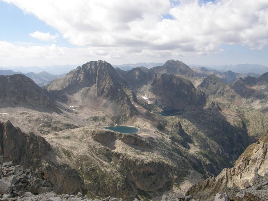 Panorama sui laghi Claus e Portette