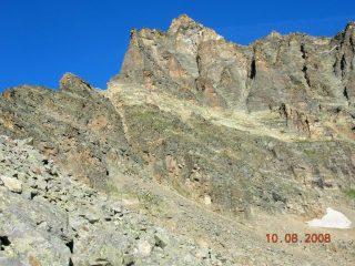 Il versante NE del Courmaon con la cresta E a sinistra