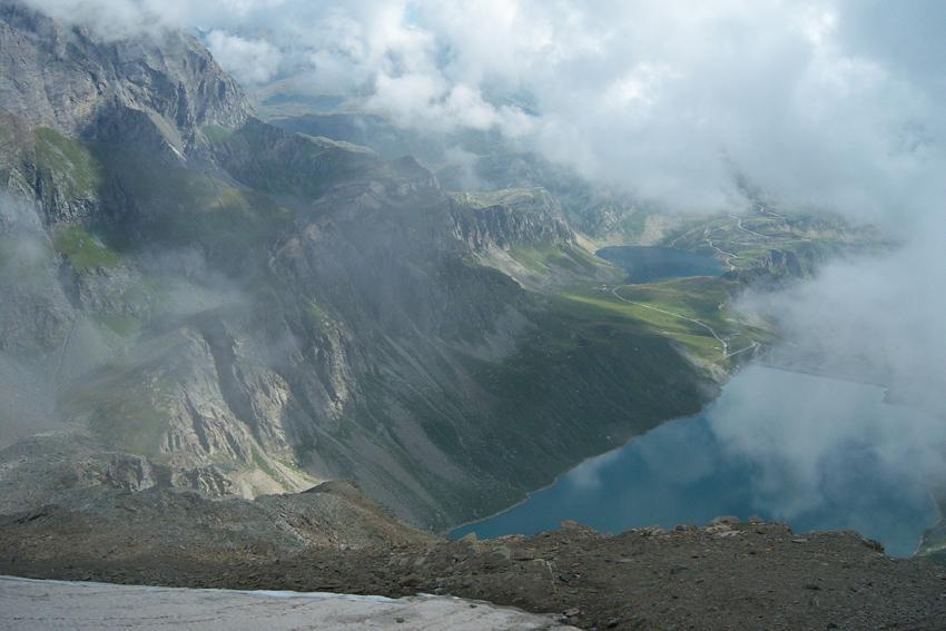 I laghi Serru' e Agnel dal colle della Vacca
