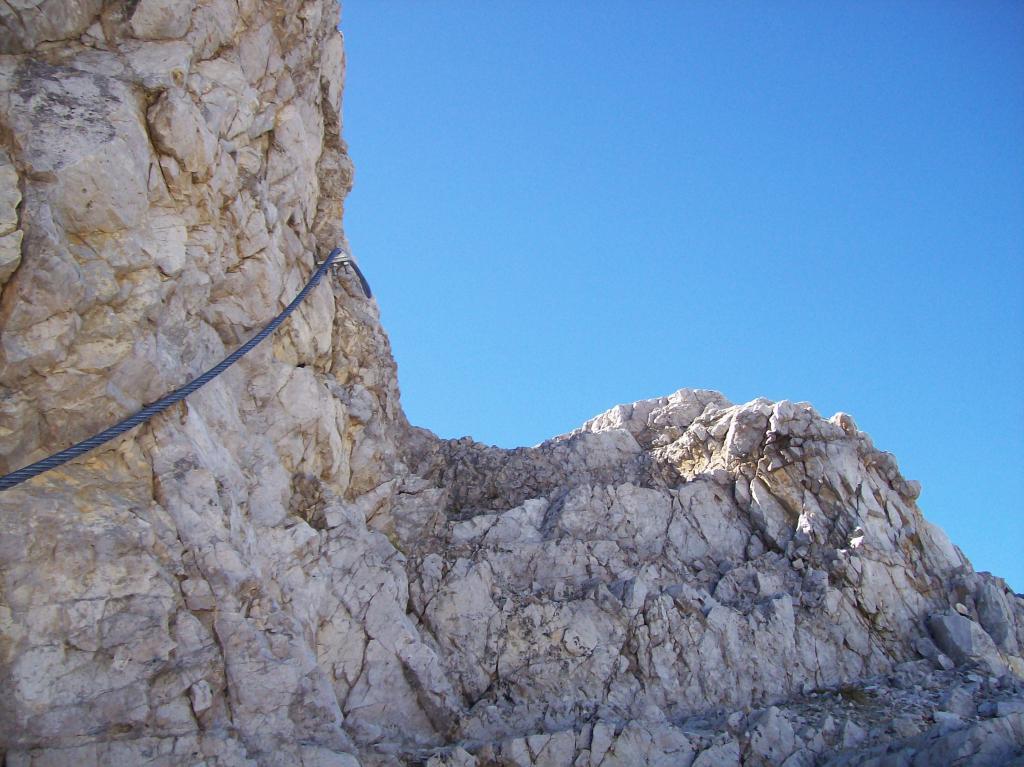 Ultimo tratto esposto per la cima dell'Oberba