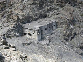il vecchio fortino militare appena sotto il Colle della Ramiere