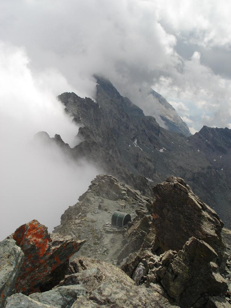 dalla vetta, le nebbie della valle po