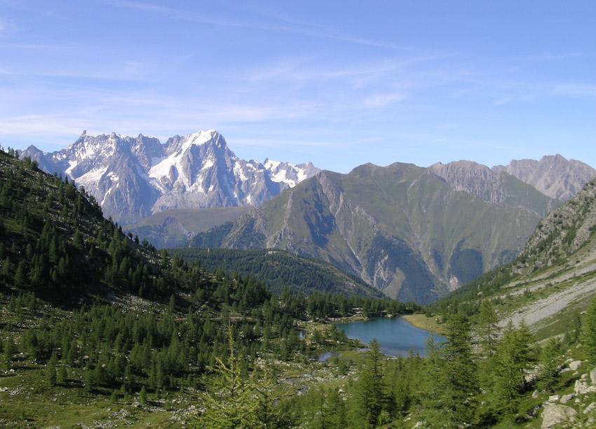 lago di Arpy e Gran Jorasses