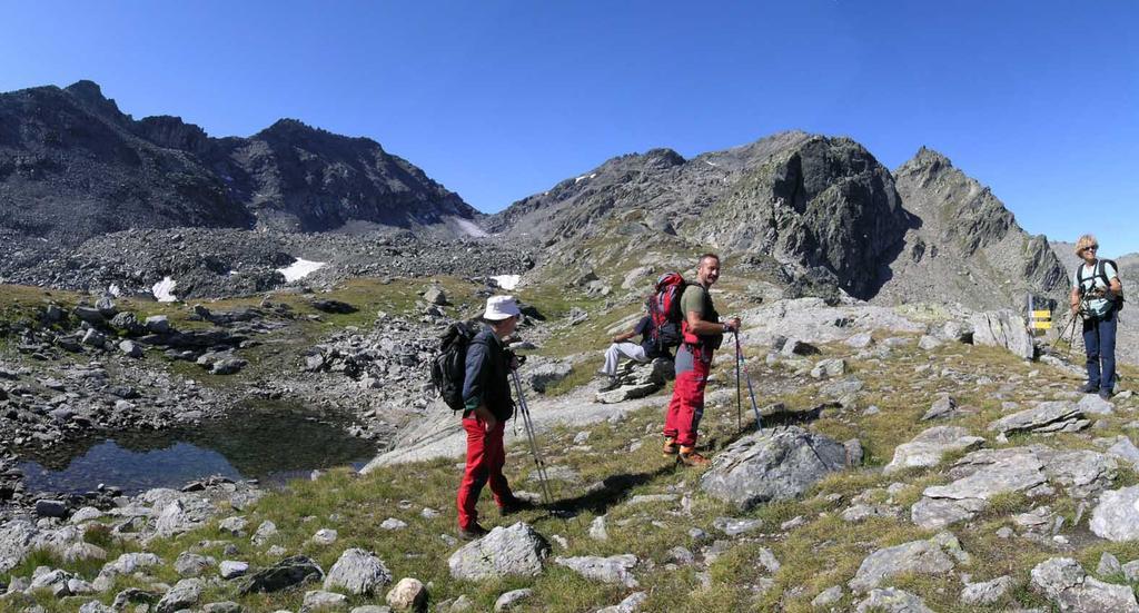 Colle di Comba Sorda e pendio finale visto dal lago pietra rossa