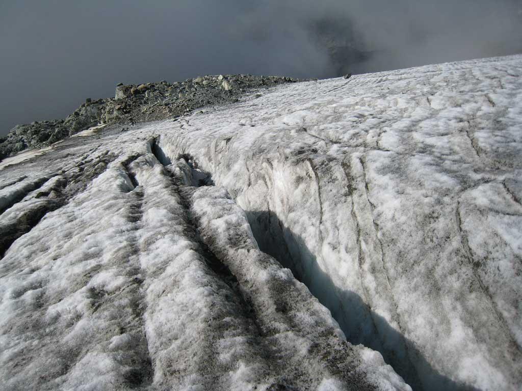 Le condizioni di ciò che resta del ghiacciaio