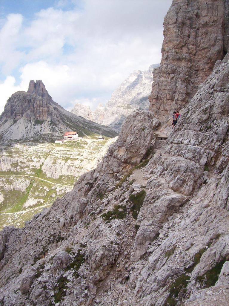 Il ritorno sotto il Monte Paterno