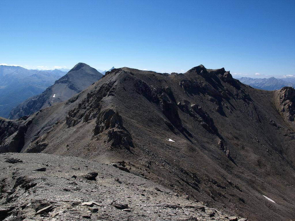 La Punta, Rochers Charnier e Chaberton visti dalla Chalance Ronde