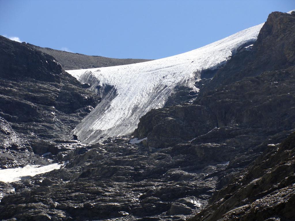 quello che rimane del ghiacciaio pensile