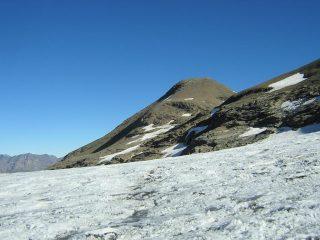 la vetta dal ghiacciaio