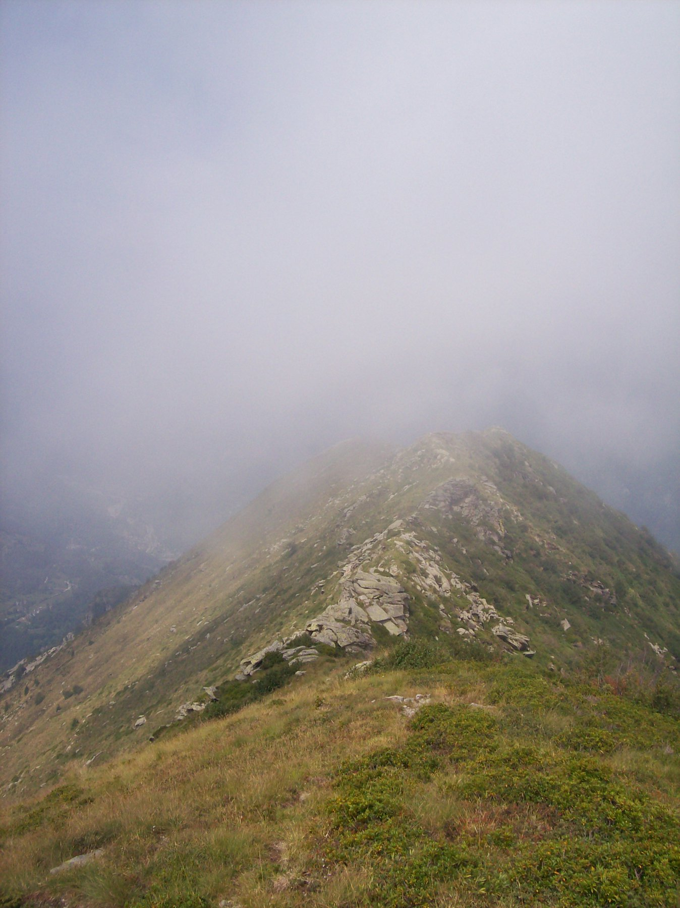 Verso la cima dell'Angiolino