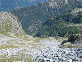 Il vallone di Trubinasca e il Rif. Sacs-Furà