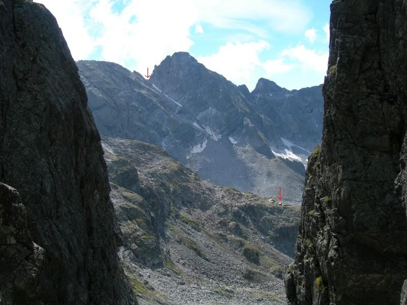 Il Passo Porcellizzo e il biv. Pedroni dal Passo Trubinasca