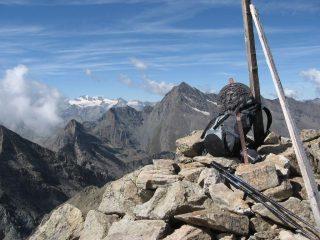 La vetta del M. Glacier, con Tersiva e Gran Paradiso