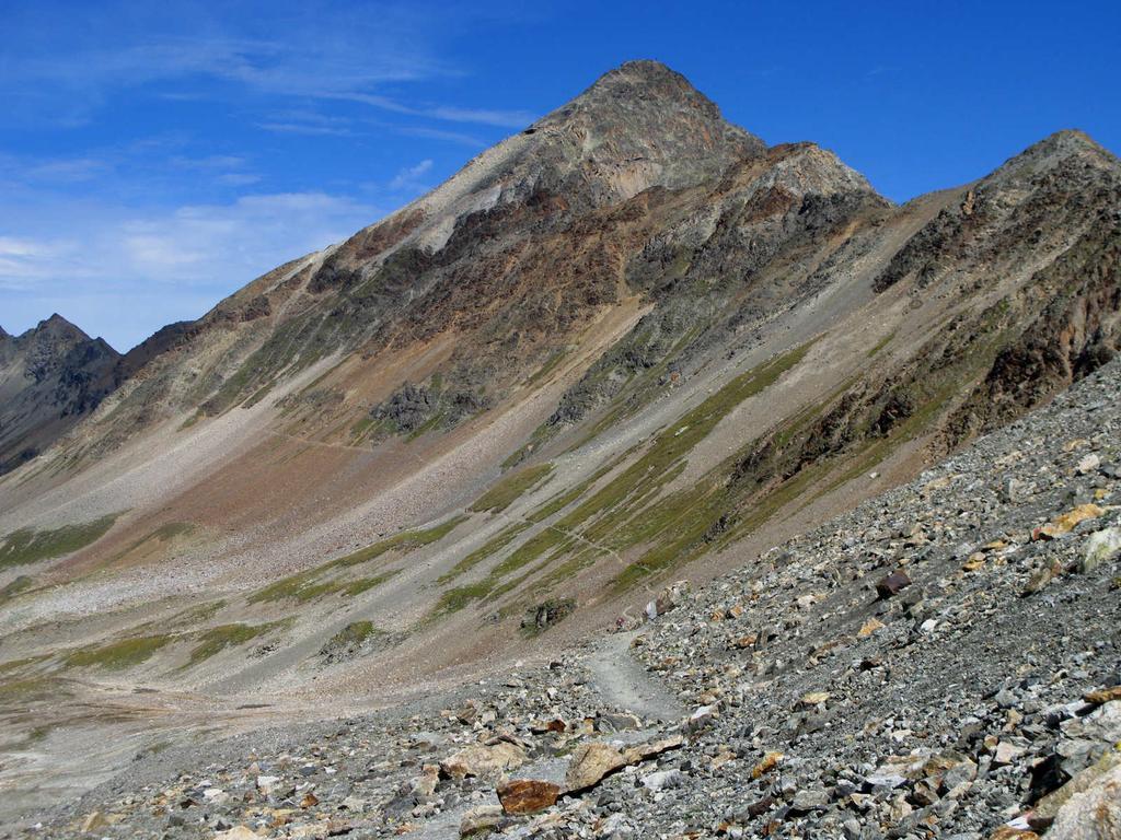 il Piz Languard (versante Sud-Ovest) visto da Fuorcla Pischa