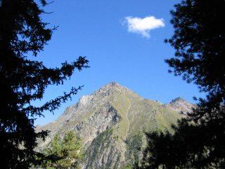 La cima della becca vista da Plan Fenetre