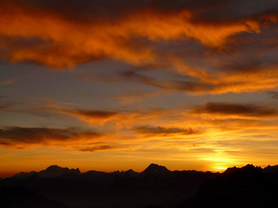 tramonto dal rifugio