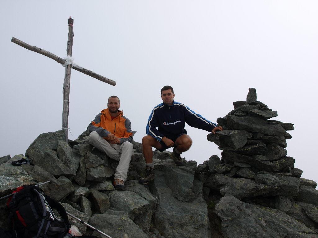 Sulla cima del Petit Tournalin