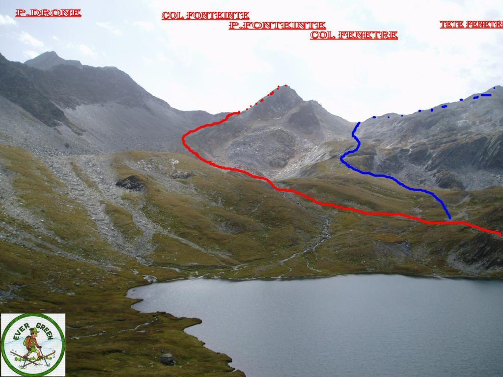 Fenetre (Tète de) e Lacs de Fenetre da Montagna Baus 2008-09-11