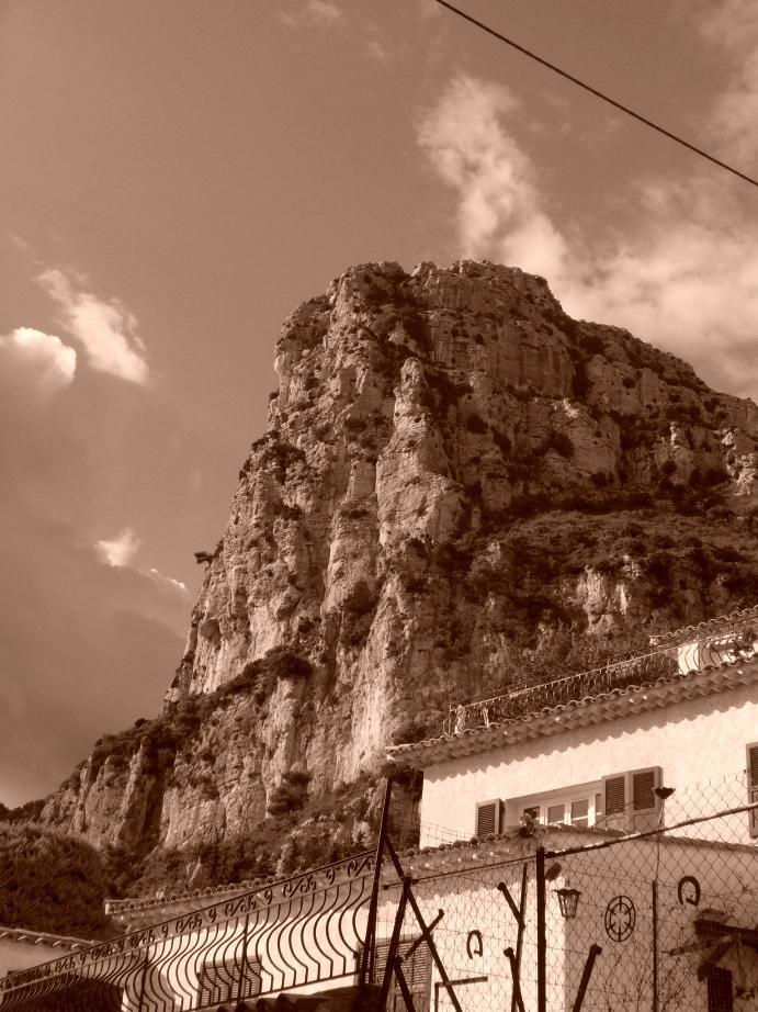 La bella parete di Baou!