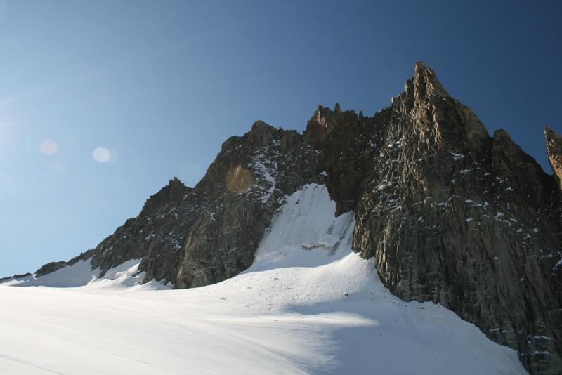 Aig  Marbre e la cresta di salita EST