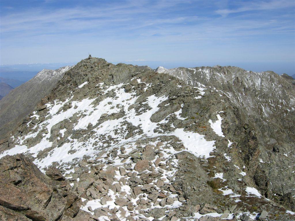 La cima Nord di Viglino dalla Sud
