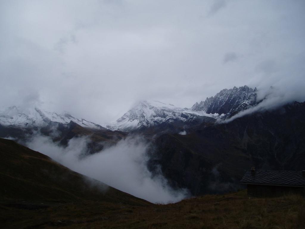 il mont gelè al mattino nella nebbia