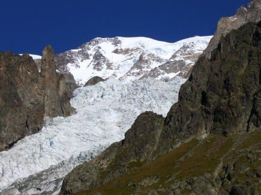 Monte Bianco e ghiacciaio omonimo