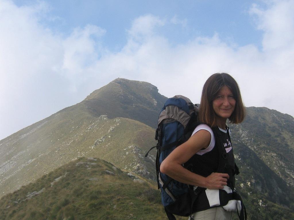 Sul sentiero di cresta verso il monte Vaccarezza