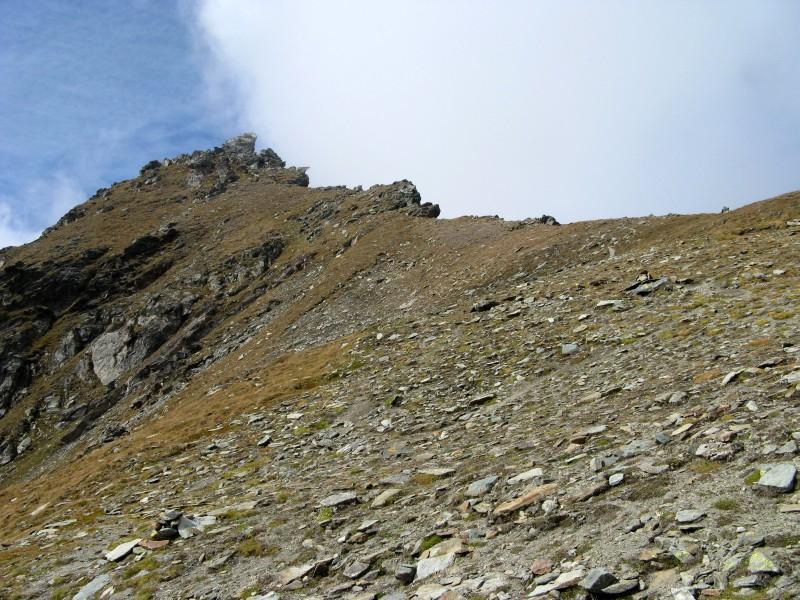 La cresta e la vetta della Becca di Trecaré.