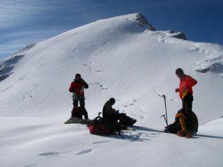 Davide, Luigi e Massimo hanno messo piede sul Ghiacciaio di Suessa (21-9-2008)