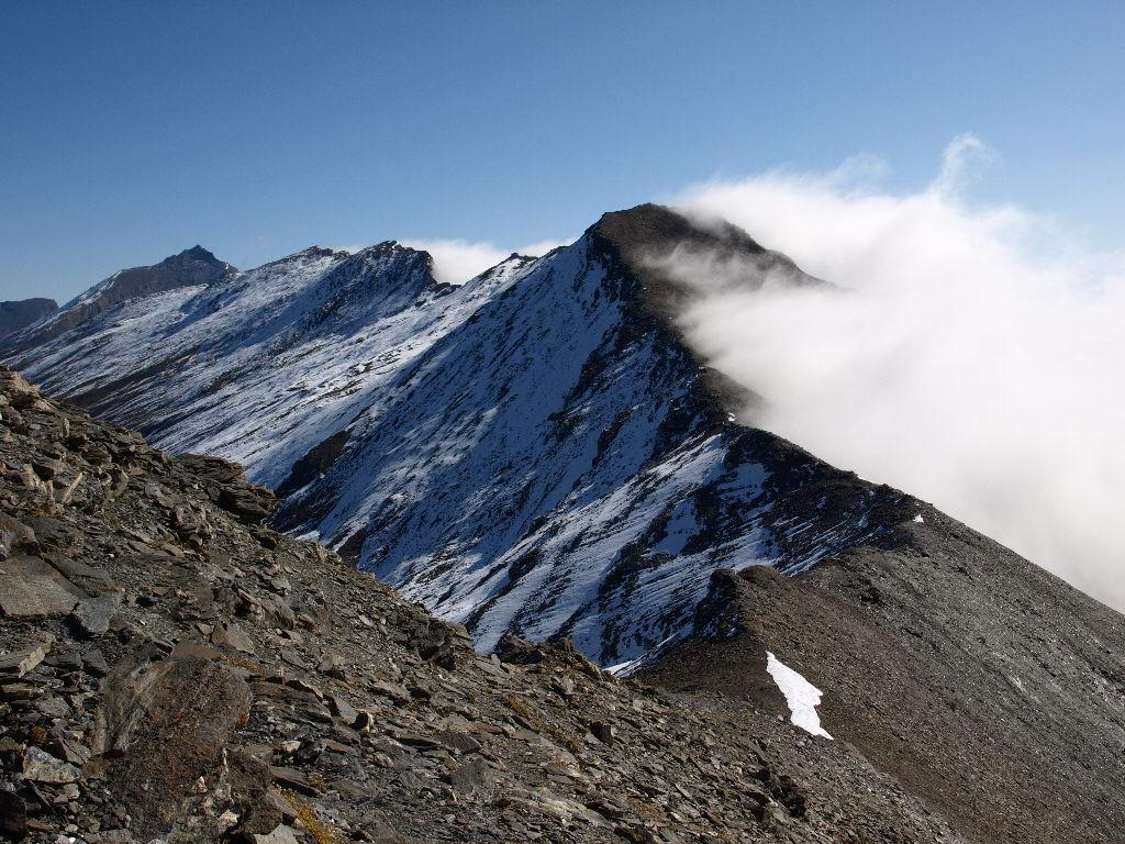 Cresta verso Cote Traversiere e Punta Bagnà