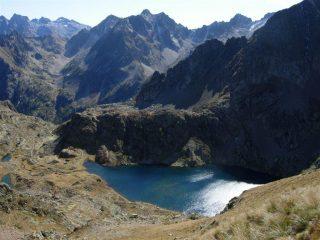 Dal colletto di Valscura sul Lago di Valscura