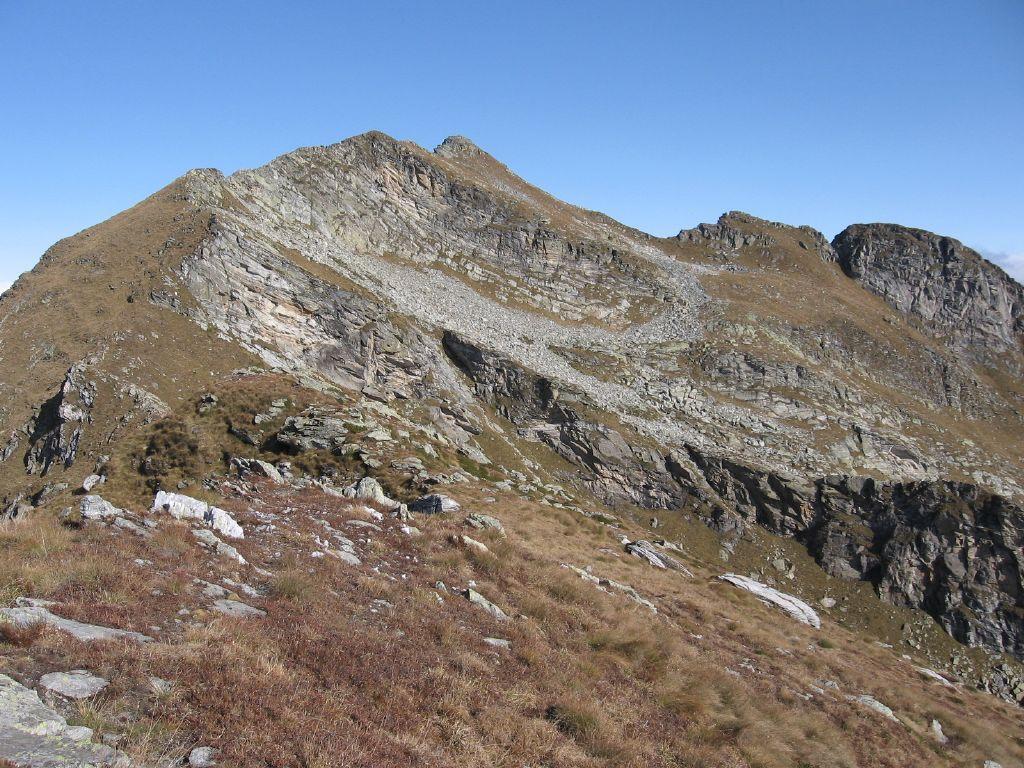 La cresta di salita a Cima Bonze dal Cavalcurt