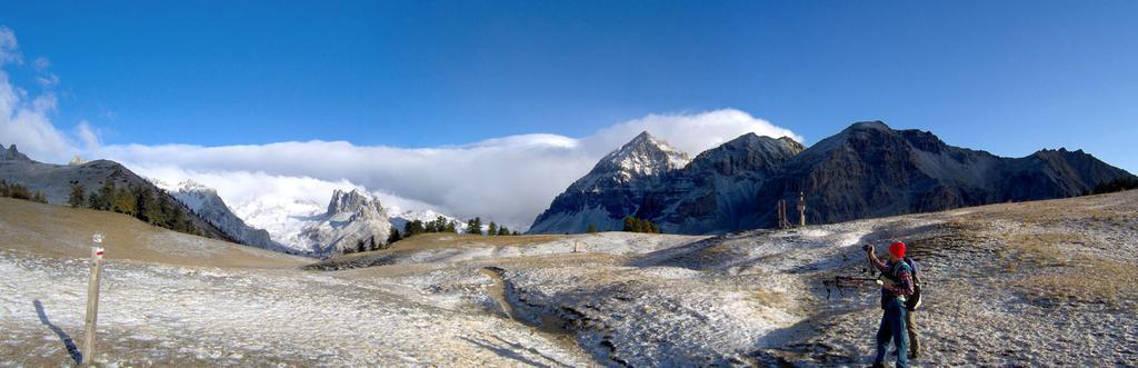 Verso il Monte Thabor dal Col des Thures
