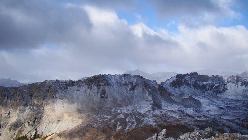 Spolverata di neve sul versante Val Clarea