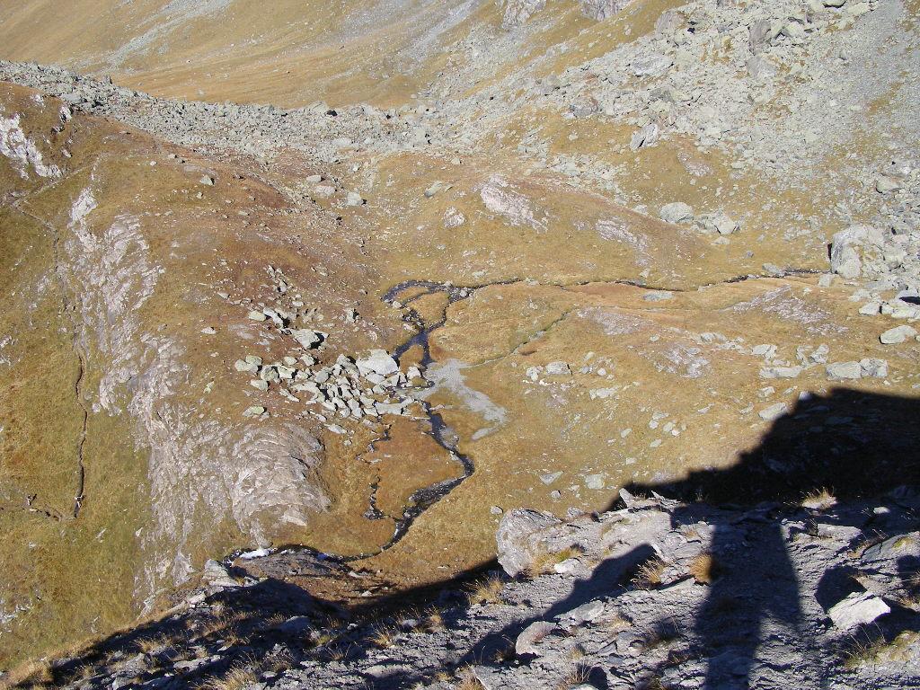 Vista del Pian Sulè, dove bisogna volgere a destra