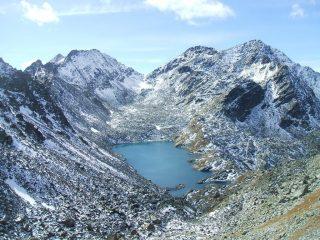 Lago di Pietra Rossa, Mont Colmet, Colle della Comba Sorda dal Passo d'Ameran