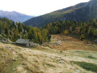 Il pianoro e l'alpeggio di Leseney