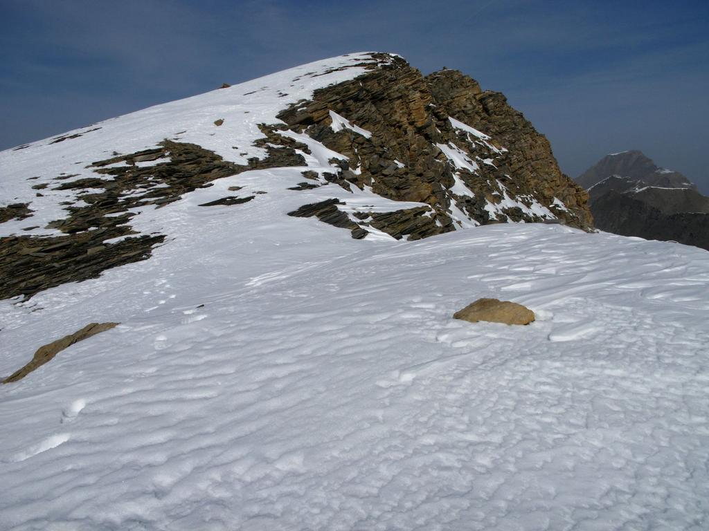 la cresta Sud-Est della Pointe du Ribon seguita in salita