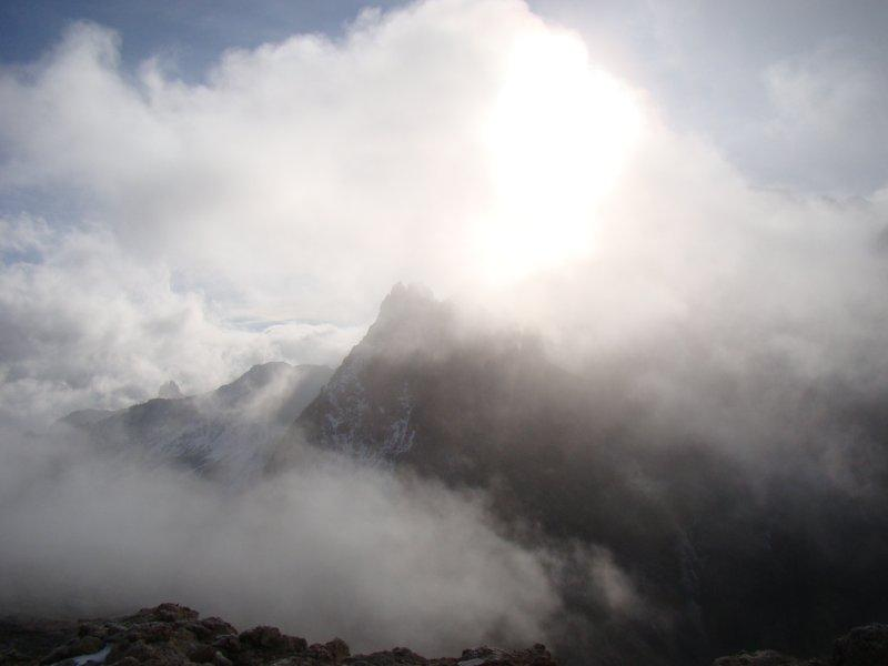 Rognosa d'Etiache tra le nubi...