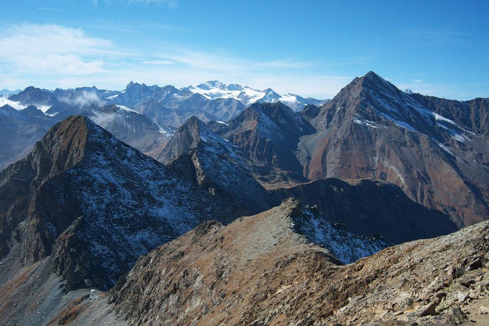 Panorama dal M. Glacier