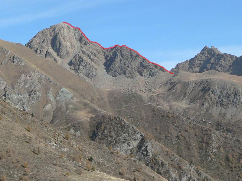 la cresta vista da ovest
