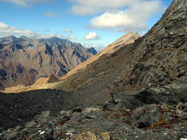 Monte Rafray e testa del vallone di Clavalitè dal Colle Fussy