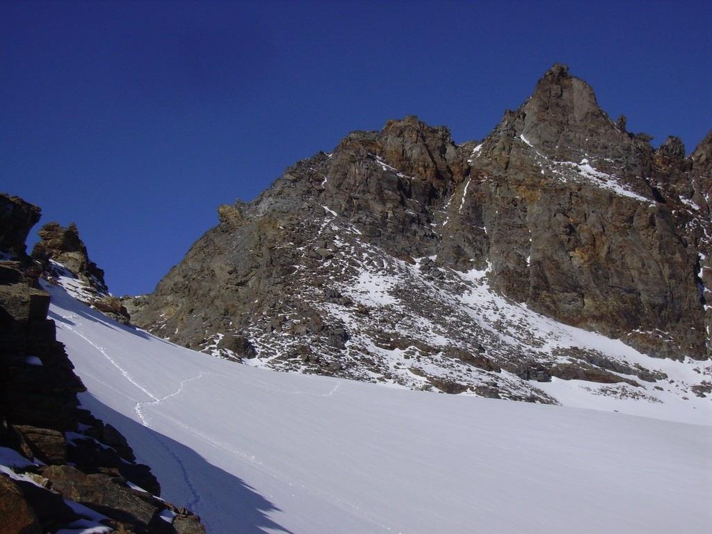 La Pointe de Labby vista dal Col de Labby