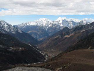 La valle dell'Imja Khola verso Namche