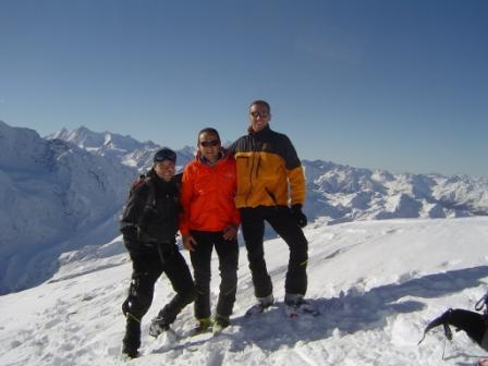foto di vetta con Valter e Gianni