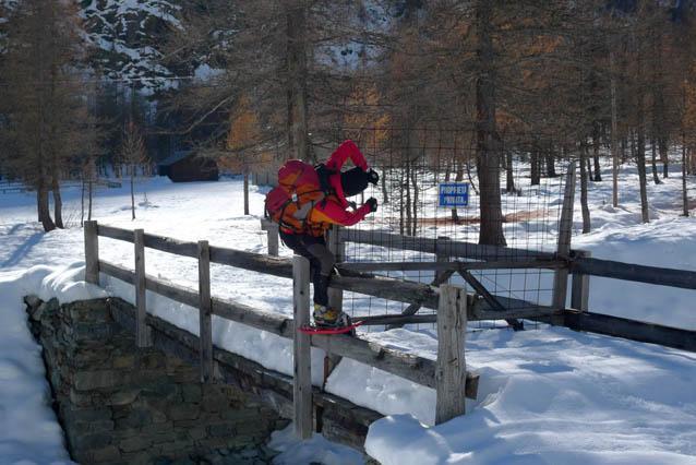 Il passaggio più difficile:superare il cancello del maneggio!!