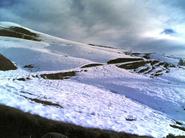 la neve comincia a scarseggiare